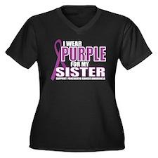 Pancreatic Cancer: Sister Women's Plus Size V-Neck