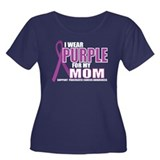 Pancreatic Cancer: Mom Women's Plus Size Scoop Nec