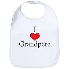 I Love (Heart) Grandpere Bib
