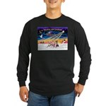 XmasSunrise/3 Whippets Long Sleeve Dark T-Shirt