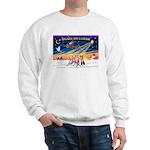 XmasSunrise/3 Whippets Sweatshirt
