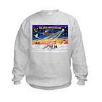 XmasSunrise/3 Whippets Kids Sweatshirt