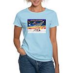 XmasSunrise/3 Whippets Women's Light T-Shirt