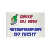 Dave - Super Hero by Night Rectangle Magnet