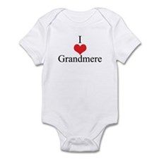 I Love (Heart) Grandmere Infant Bodysuit