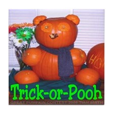 Trick-or-Pooh by T. Smith Tile Coaster