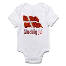 Glædelig Jul Flag Infant Bodysuit