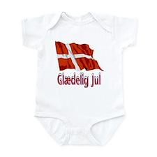 Glædelig Jul Flag Infant Bodysuit