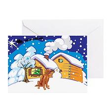 Log Cabin Irish Setter Greeting Cards (Pk of 10)