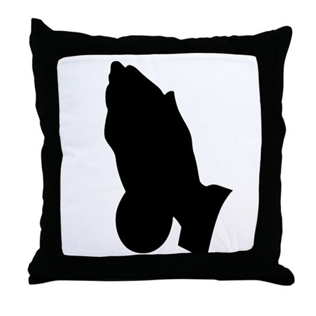 Praying Hands Throw Pillow