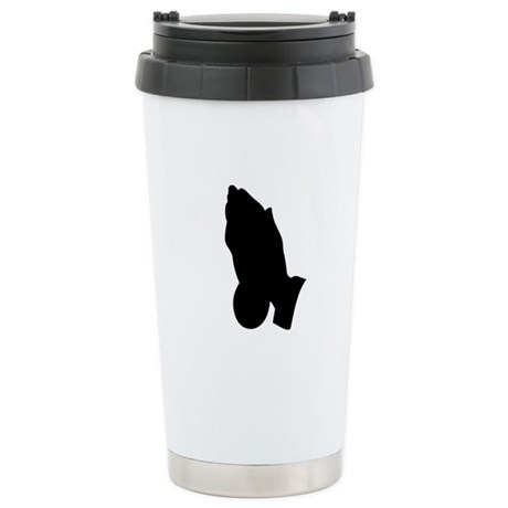 Praying Hands Ceramic Travel Mug