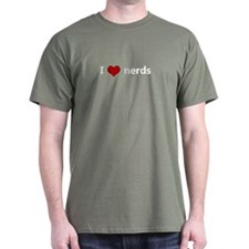 I Heart (Love) Nerds T-Shirt