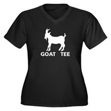 Goat Tee Women's Plus Size V-Neck Dark T-Shirt