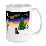 XmasSigns/Lab (choc) Large Mug