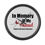 InMemoryHusband LungCancer Large Wall Clock