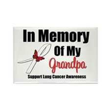 InMemoryGrandpa Lung Cancer Rectangle Magnet