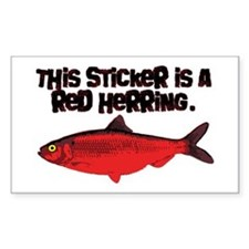 'Red Herring' Writer Rectangle Decal
