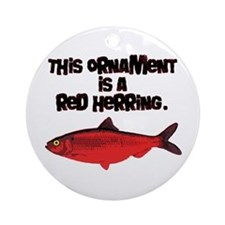 'Red Herring' Writer Ornament (Round)
