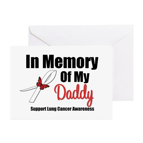 InMemoryDaddy Lung Cancer Greeting Cards (Pk of 10