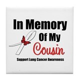 InMemoryCousin Lung Cancer Tile Coaster