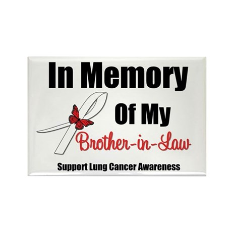InMemoryBIL Lung Cancer Rectangle Magnet (10 pack)