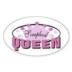 Srapbook Queen Oval Sticker (10 pk)