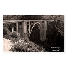 Bixby Bridge Rectangle Decal