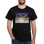 XmasSunrise/Fox Ter #4 Dark T-Shirt