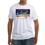 XmasSunrise/Fox Ter #4 Fitted T-Shirt