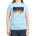 XmasSunrise/Fox Ter #4 Women's Light T-Shirt