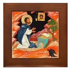 First St. Benedict Framed Tile