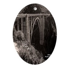 Bixby Bridge Oval Ornament