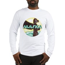 Alaska Totem Pole Long Sleeve T-Shirt