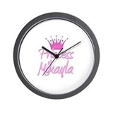 Princess Mikayla Wall Clock