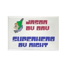 Jason - Super Hero by Night Rectangle Magnet