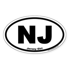 Jersey Girl NJ Euro Oval Decal