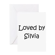 Unique Silvia Greeting Card