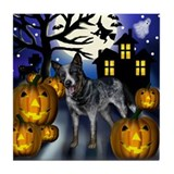AUSTRALIAN CATTLE DOG HALLOWEEN Tile Coaster