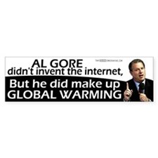 Gore Invented Global Warming Bumper Sticker