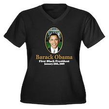 President barack Obama Women's Plus Size V-Neck Da