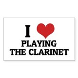 I Love Playing the Clarinet Rectangle Decal