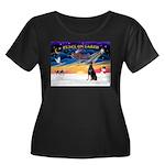 XmasSunrise/Dobbie #1 Women's Plus Size Scoop Neck