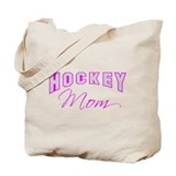 Hockey Mom (pink) Tote Bag