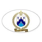 SAINDON Family Crest Oval Sticker