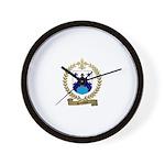 SAINDON Family Crest Wall Clock