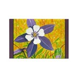 Colorado Columbine Rectangle Magnet