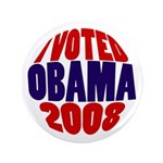 I Voted Obama 2008 Big Victory Button