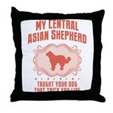 Central Asian Shepherd Throw Pillow