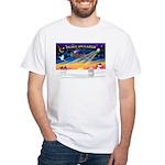 XmasSunrise/Coton #1 White T-Shirt