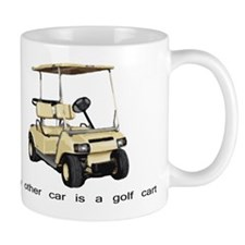 my other car is a golf cart Mug